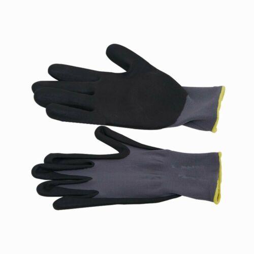 Siena Garden Handschuh SuperFlex S7 100/% Nylon mit Micronitrilschaum grau//schwa