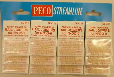 Peco SL-311 N Code 55 Insulated Rail Joiner Pack of 12