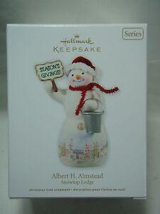 2012 Hallmark Keepsake Ornament Albert H Almstead Snowtop Lodge #8 B8