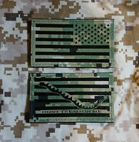 Ir Nwu Type Iii Reverse Us Flag & First Navy Jack Patch Set Us Navy Aor2 Hook
