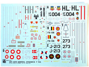 Esci-4010-Vintage-Stickers-General-Dynamics-F-16a-As-1-48-Modelisme
