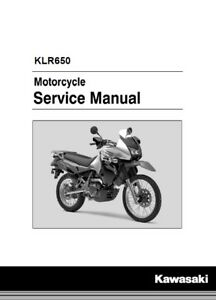 kawasaki klr650 service manual fits 2008 2018 genuine kawasaki rh ebay com klr 650 owners manual 2001 kawasaki klr 650 service manual