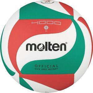 Molten volley DVV wettspielball blanc/vert/rouge v5m4000 taille 5