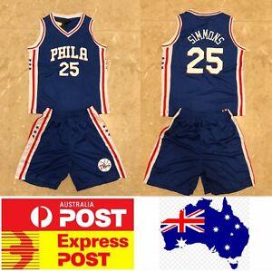 Image is loading Philadelphia-Sixers-25-Ben-Simmons-Kids-jerseys-set- 1902545b4