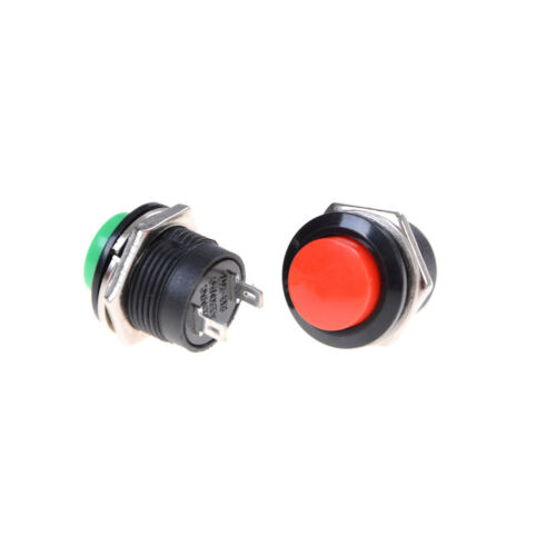 5x R13-507 Momentary Button Switch Mounting Hole 16mm 3A Good CBL