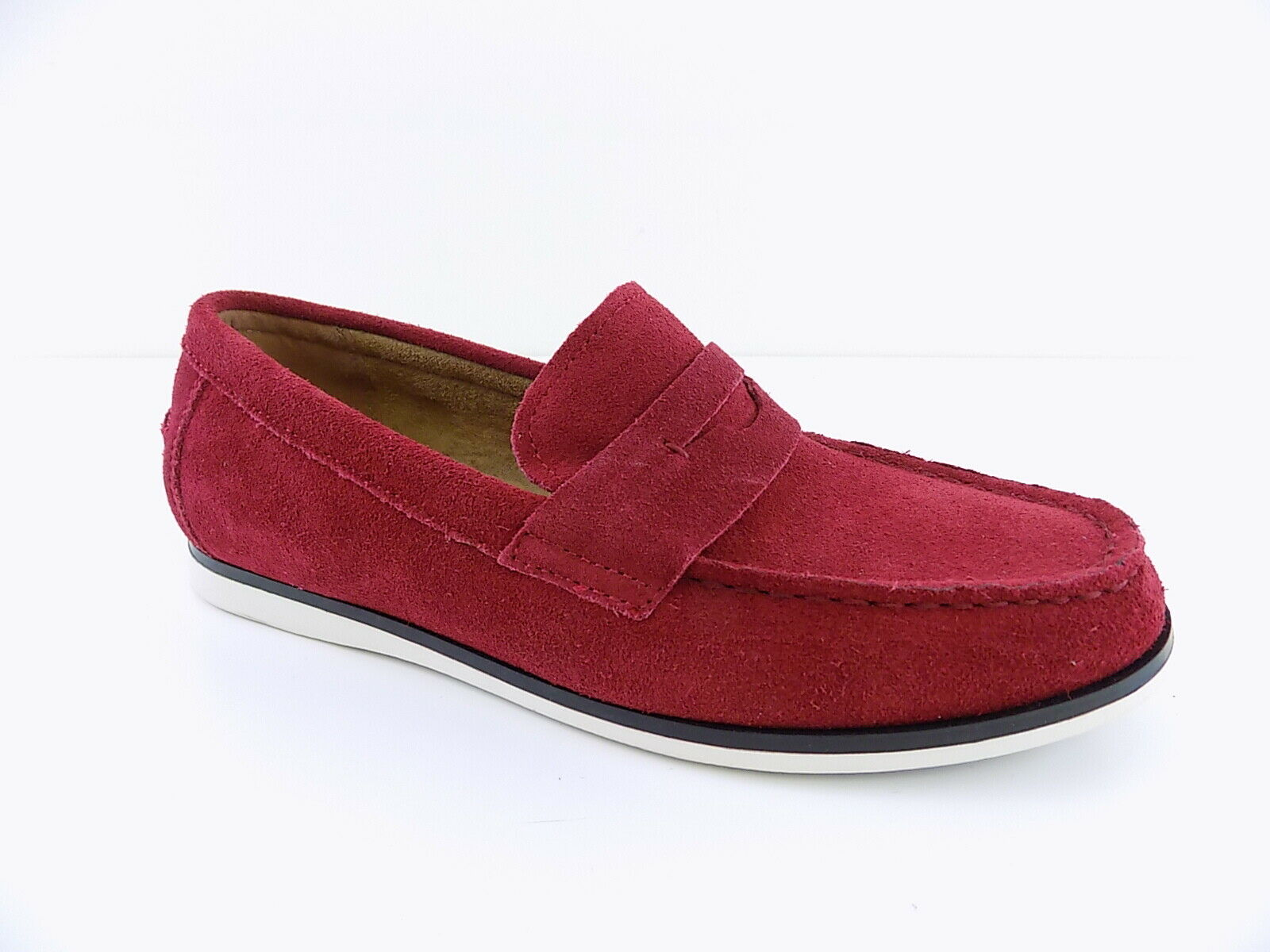 Alfani   SAWYER Red MEN Size 9M Loafers & Slip Ons CLASSIC SUEDE shoes D01