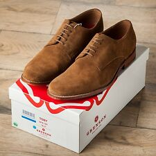 BNIB Grenson Toby snuff suede plain toe blucher UK10 US11 MSRP $300 Beautiful!!!