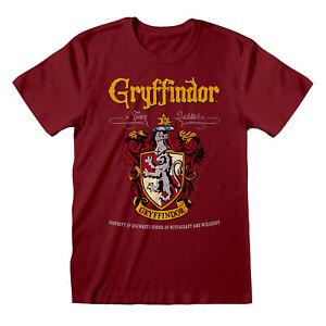 Official-Harry-Potter-Gryffindor-Crest-T-Shirt-Team-Quidditch-Hogwarts-Wizard