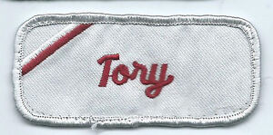 Tory name tag patch 1-1/2 X 3-1/2