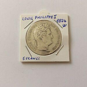 5 F Louis Philippe 1er En Argent 1834 W Dtpvogak-08010057-132170149