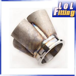 4-1-4-Cylinder-Manifold-Header-Merge-Collector-Stainless-Steel-3-034-V-Band-Vband