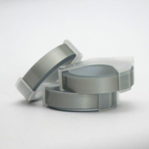 Motex Refill Silver Label Maker Tape for Embossing Labeller