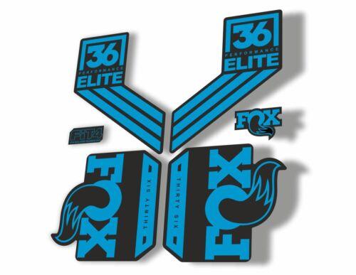 FOX 36 Elite Performance 2017-18 Fork Suspension Factory Decal Sticker Blue