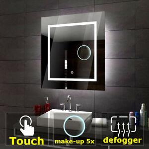 Détails sur Sofia éclairé del Miroir salle de bain LED interrupteurs  maquillage anti buée