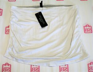 Crossroads-Brand-White-Grey-Marble-Reversible-Belly-Band-Size-16-18-BNWT-SE41