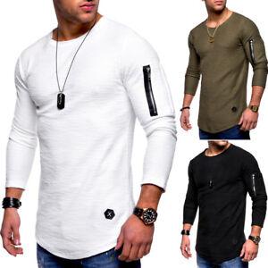 94a29aa0e50b Das Bild wird geladen Behype-Herren-2in1-Oversize-Sweatshirt-Longline-T- Shirt-