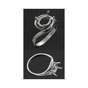 (10x7mm) Pear Side-Set .925 Sterling Ring Setting (Ring Size 7 )