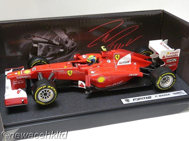 Ferrari f2012 f.massa f1 gp 2012 hotwheels 1   18   x5521