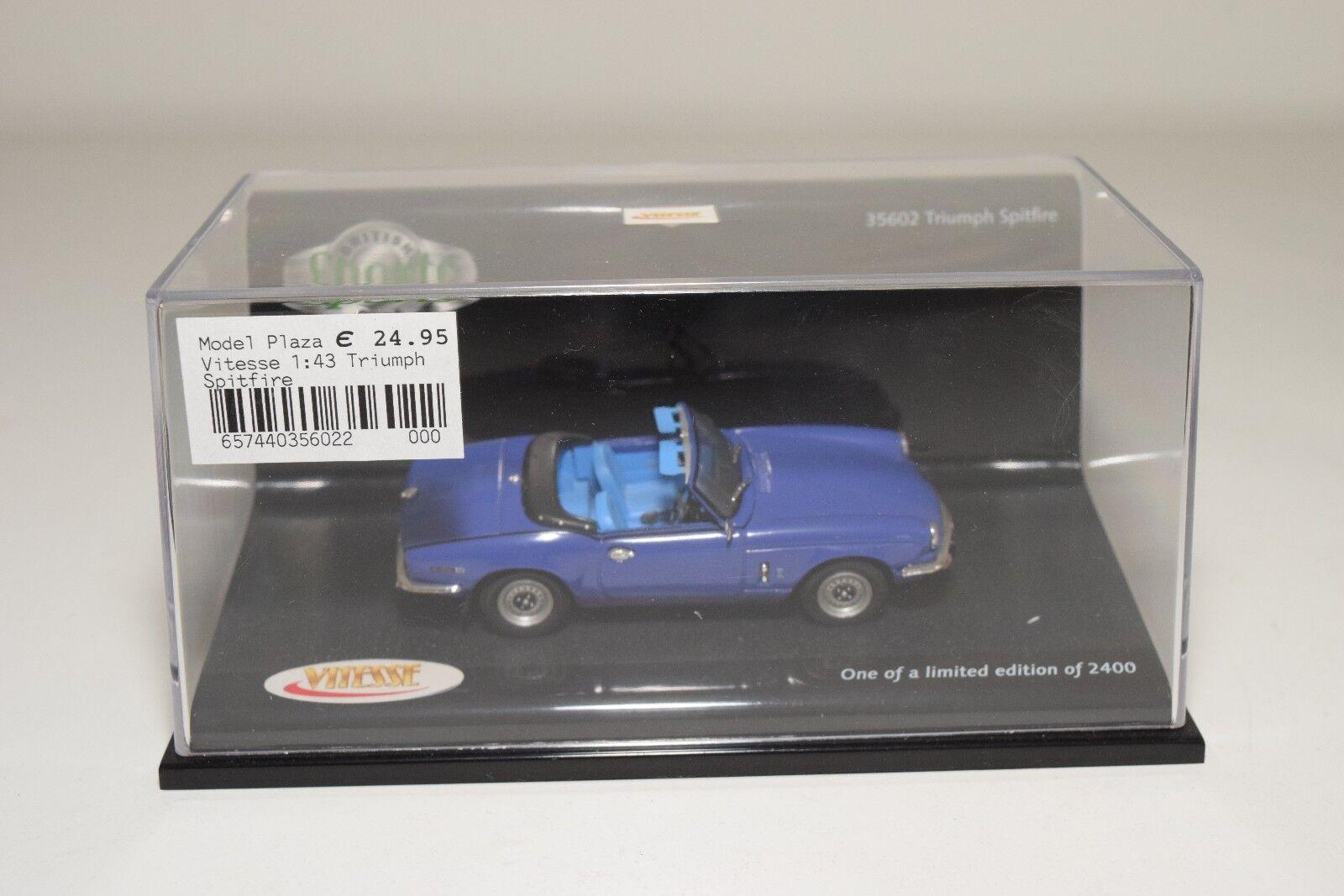 VITESSE 35602 TRIUMPH SPITFIRE blueE MINT BOXED 005da2