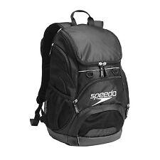 NEW SPEEDO T-KIT TEAMSTER BACKPACK 35L - BLACK SWIMMING BAG RUCKSACK