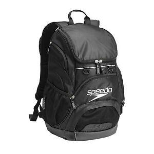 NEW-SPEEDO-T-KIT-TEAMSTER-BACKPACK-35L-BLACK-SWIMMING-BAG-RUCKSACK
