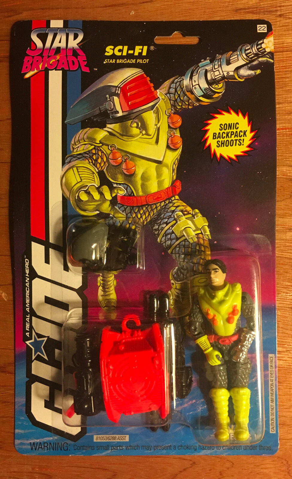 Gi - joe arah star brigade sci - fi moc - 9 + kenner us - karte, 1993