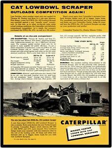 D9 Cat DW21 No 1956 Caterpillar Tractor New Metal Sign 470 Low Ball Scraper
