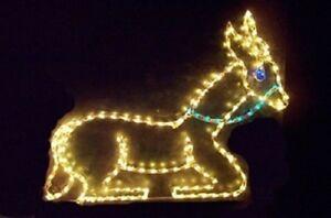 Nativity-Sitting-Donkey-Xmas-Outdoor-LED-Lighted-Decoration-Steel-Wireframe