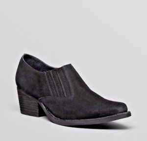 NIB-Jeffrey-Campbell-Black-Suede-Barstow-Booties-Size-7-7-5