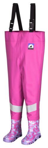 De cuissardes enfants kinderwathose matschhose pink top watthose