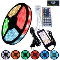 5M 5050 SMD RGB LED 300/5M 60/M Streifen Strip Lichtleiste Band Trafo Controller