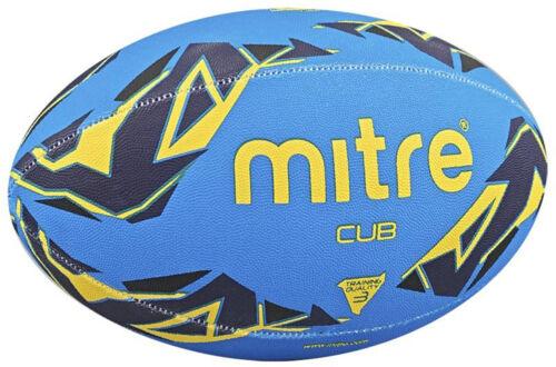 Mitre B7101 Cub Mini Rugby Sports Match Training /& Practice Ball Size 3 Blue