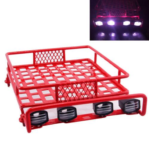 Radio Control Porte-bagages /& 4 DEL White Light Bar Pour 1:10 1:8 CC01 D90 SCX10 4x4 Contrôle Radio Voiture