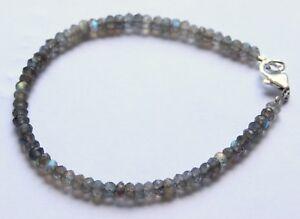 Labradorit-Armband-edelsteinarmband-facettierte-Rondell-Schmuck-ca-19-cm-Schoen