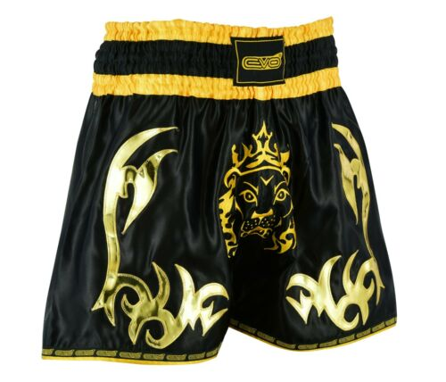 EVO Muay Thai Shorts MMA Kick Boxing Grappling Martial Arts Gear Cage Fight UFC