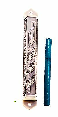 Mezuzah Brass 12CM Case With Kosher Scroll 7cm Mezuzot Mezuza Judaica Home Jew