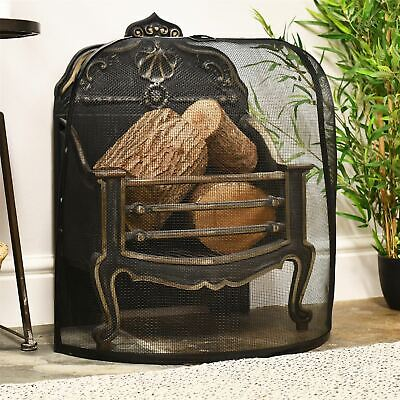 Mits Small Dome Design Curved Fire Guard / Fire Screen / Spark Guard
