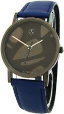 Mercedes Benz Werbeuhr Quarzuhr Herrenuhr mercedes quarz mens watch blau grau