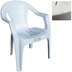 Groovy Details About Indoor Outdoor Plastic Chairs Garden Patio Armchair White Chair Small Marks Dailytribune Chair Design For Home Dailytribuneorg