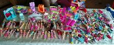 Huge polly pocket lot 300+ Pcs: dolls clothes pets furniture shoes accessories +