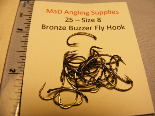 GRUB Fly Hooks for Fly Tying Choose Size from Drop Down Menu Pack of 25 BUZZER