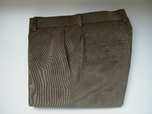 MEN'S LINEA NATURALE-WAIST 44-FLAT FRONT-LT. BROWN THIN-RIBBED CORDUROY  PANTS