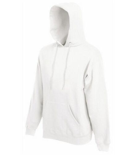Sweat shirt à capuche homme sport FRUIT OF THE LOOM  COULEUR BLANC
