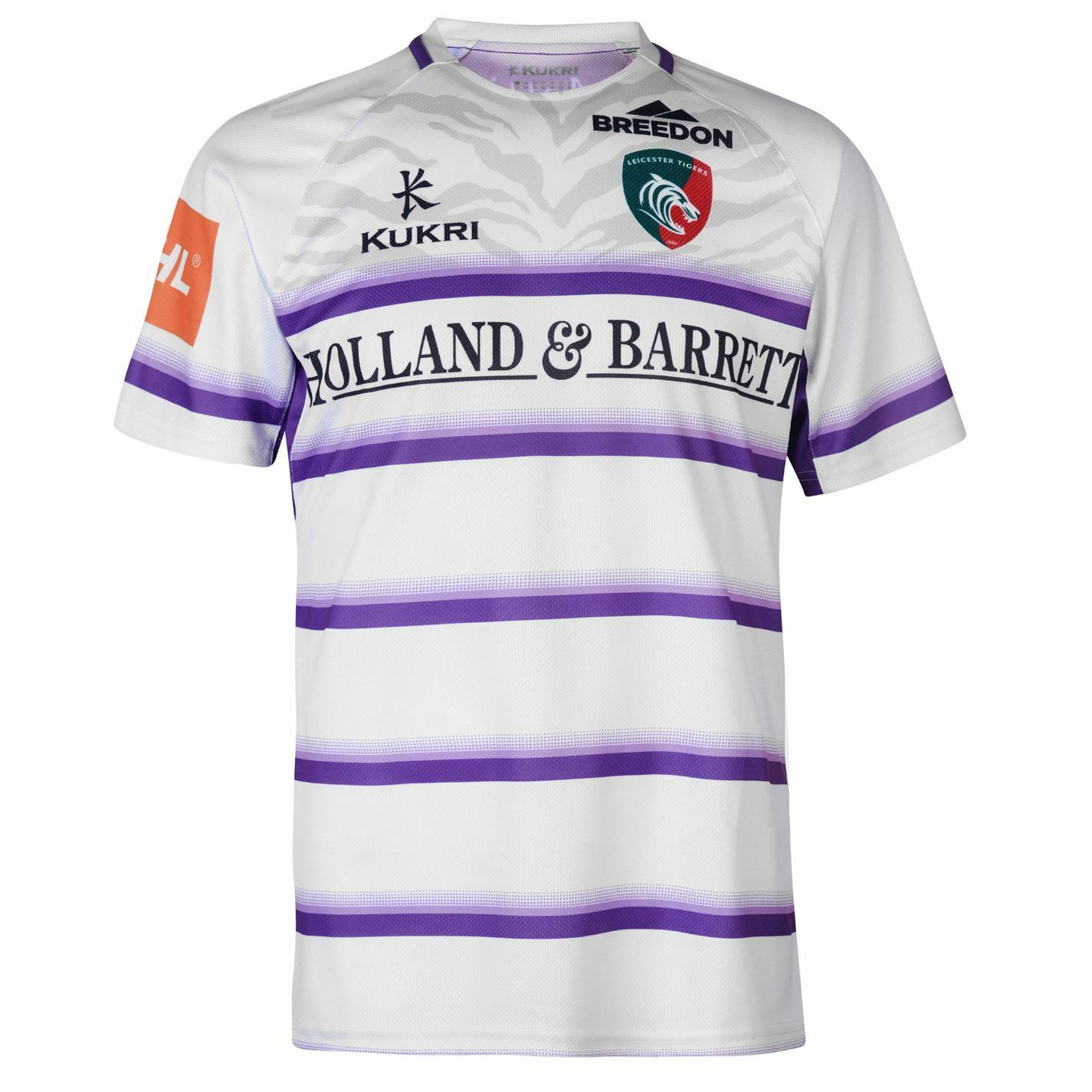 Kukri Mens Leicester Tigers Alternate Rugby Shirt Short Sleeve Breathable