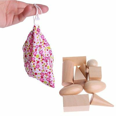 Wooden Geometric Solids 3-D Shapes Learning Resources Cognitive Toys