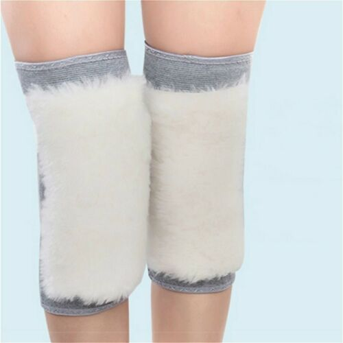 Sheepskin Wool Thermal Knee Joints Warmers Flexible Winter Mats Protector Thick