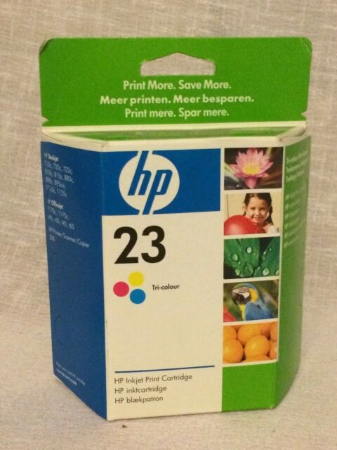 HP 23 Tri-Colour Ink Printer Cartridge Sealed & Boxed FREE UK POSTAGE .