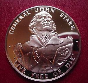 NEW-HAMPSHIRE-Official-Sterling-SILVER-Bicentennial-PROOF-Medal-STARK-Live-Free