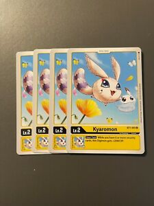 4x BT1-031 Monmon Digimon 2020 TCG English Uncommon Near Mint Playset