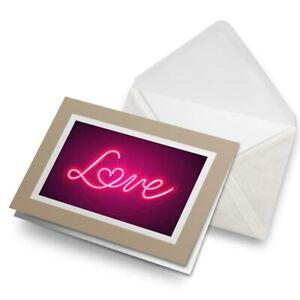 Greetings-Card-Biege-Pink-Neon-Love-Heart-Sign-2806